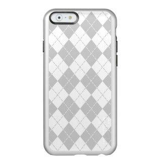 Gray and White Argyle iPhone 6 Case Incipio Feather® Shine iPhone 6 Case