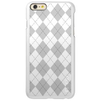 Gray and White Argyle Incipio Feather® Shine iPhone 6 Plus Case