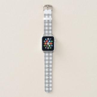 Gray and White Buffalo Check Apple Watch Band