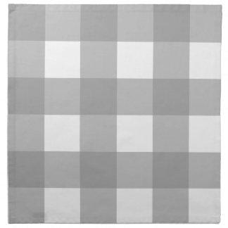 Gray and White Buffalo Check Cloth Napkin