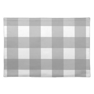 Gray and White Buffalo Check Placemats