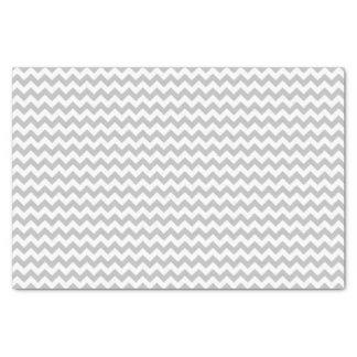 Gray and white chevron pattern custom tissue paper