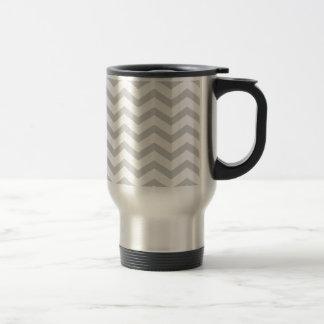 Gray And White Chevron Print Coffee Mug