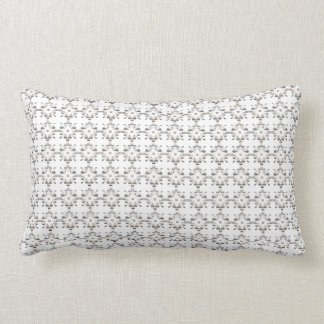 Gray and white decorative geometric pattern lumbar pillow