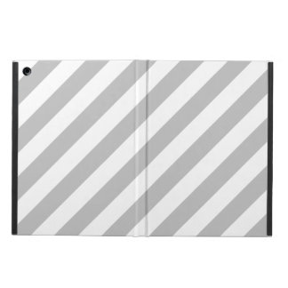 Gray and White Diagonal Stripes Pattern Case For iPad Air