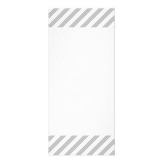 Gray and White Diagonal Stripes Pattern Rack Card