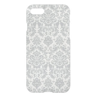 Gray and White Elegant Damask Pattern iPhone 7 Case