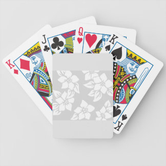 Gray and White Floral Bicycle Playing Cards