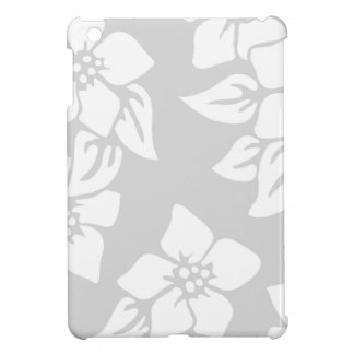 Gray and White Floral Cover For The iPad Mini
