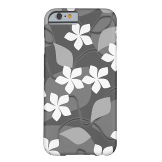 Gray and White Flowers. Floral Pattern. Barely There iPhone 6 Case