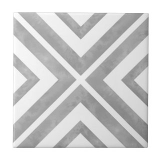 Gray and White Geometric Ceramic Tile