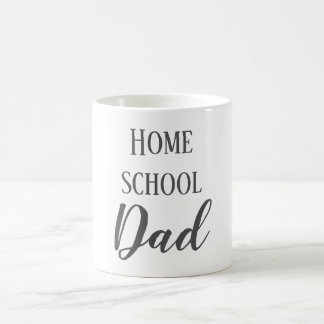 Gray and White Home School Dad Coffee Mug