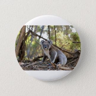 Gray and White Koala Bear 6 Cm Round Badge