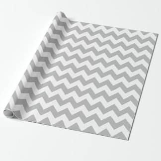 Gray and White Large Chevron Wrapping Paper
