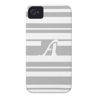 Gray and White Random Stripes Monogram iPhone 4 Covers