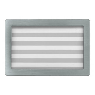 Gray and White Stripe Pattern Belt Buckle