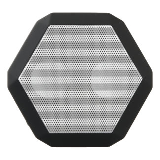 Gray and White Stripe Pattern Black Bluetooth Speaker