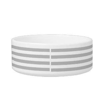 Gray and White Stripe Pattern Bowl