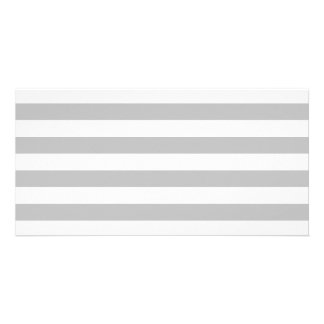 Gray and White Stripe Pattern Card