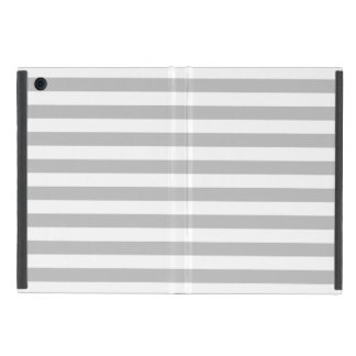 Gray and White Stripe Pattern Case For iPad Mini