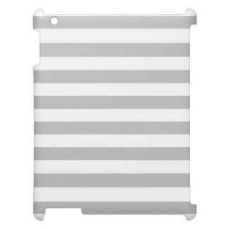 Gray and White Stripe Pattern Case For The iPad 2 3 4