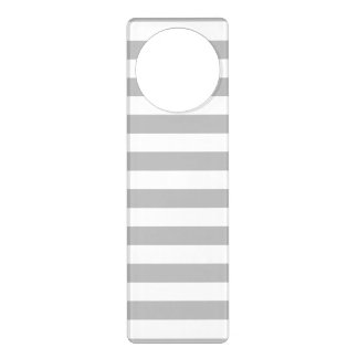 Gray and White Stripe Pattern Door Hanger
