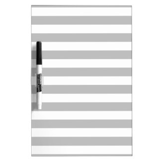 Gray and White Stripe Pattern Dry Erase Board