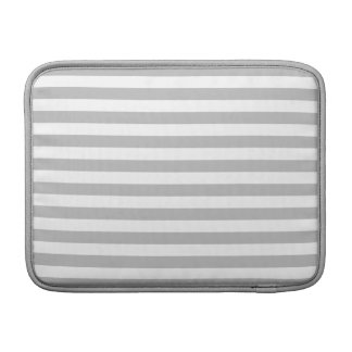 Gray and White Stripe Pattern MacBook Sleeve