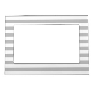 Gray and White Stripe Pattern Magnetic Frame