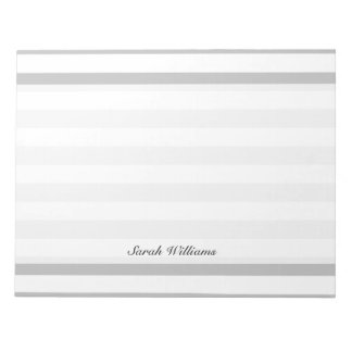 Gray and White Stripe Pattern Notepads
