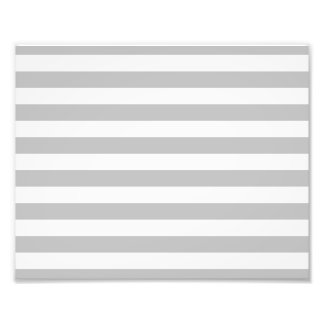 Gray and White Stripe Pattern Photo Print