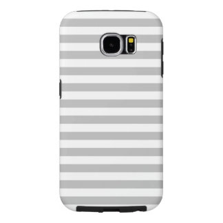 Gray and White Stripe Pattern Samsung Galaxy S6 Cases
