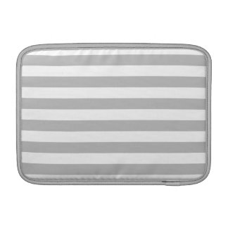 Gray and White Stripe Pattern Sleeve For MacBook Air