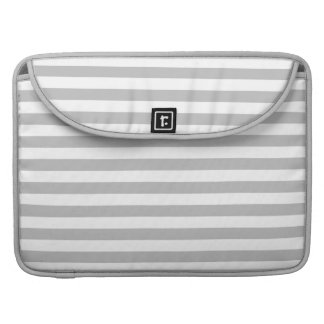 Gray and White Stripe Pattern Sleeve For MacBooks