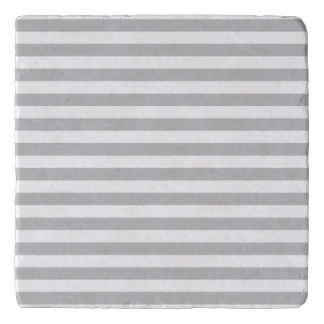 Gray and White Stripe Pattern Trivet