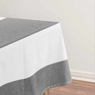 Gray and White Striped Custom Tablecloth
