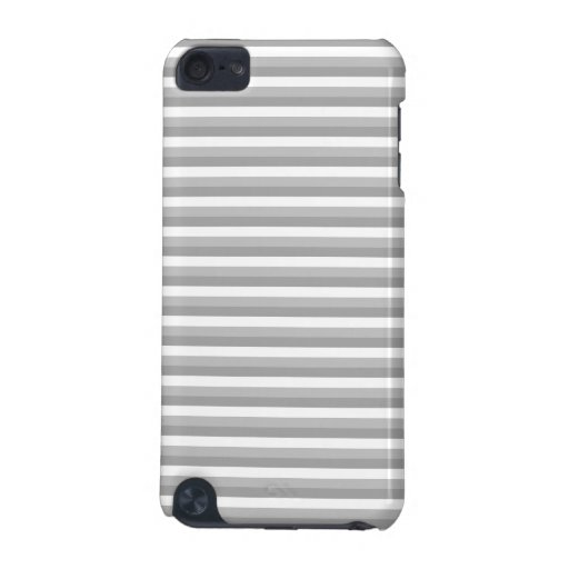 Gray and white stripes. Pattern. iPod Touch 5G Case