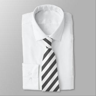 Gray and White Stripes Tie