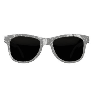 Gray and White Sunglasses Leaf Coordinating Sides