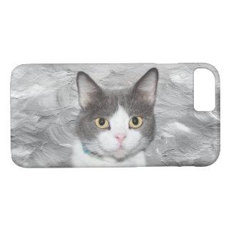 Gray and white tuxedo kitty iPhone 8/7 case