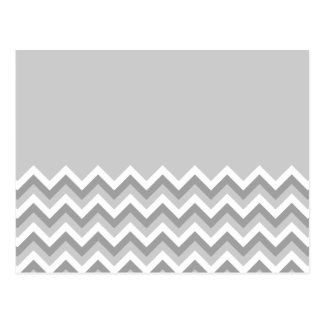 Gray and White Zig Zag Pattern. Part Plain Gray. Postcard