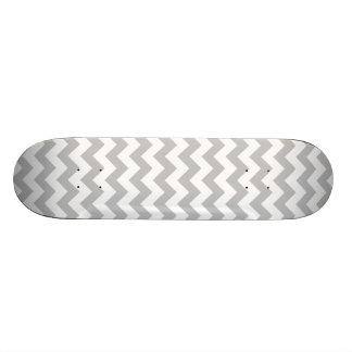 Gray and White Zigzag Chevron Pattern 21.3 Cm Mini Skateboard Deck