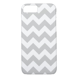 Gray and White Zigzag Chevron Pattern iPhone 7 Case