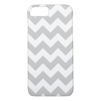 Gray and White Zigzag Chevron Pattern iPhone 7 Case