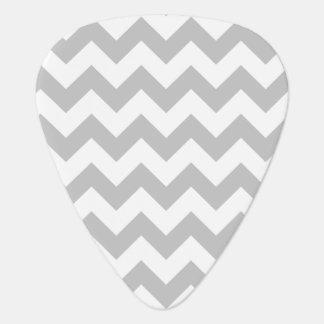 Gray and White Zigzag Chevron Pattern Plectrum