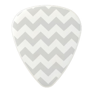 Gray and White Zigzag Chevron Pattern Polycarbonate Guitar Pick