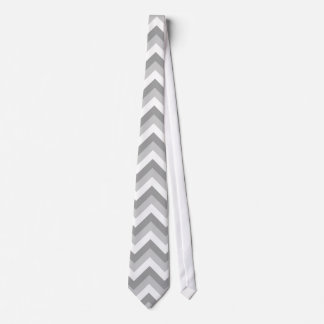 Gray and White Zigzag Pattern. Tie