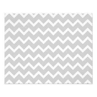 Gray and White Zigzag Stripes. 11.5 Cm X 14 Cm Flyer
