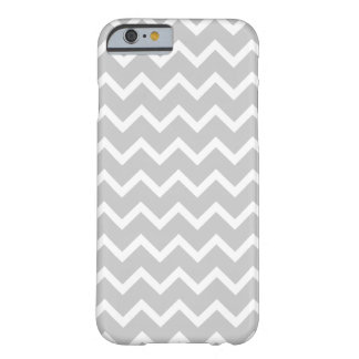 Gray and White Zigzag Stripes. Barely There iPhone 6 Case