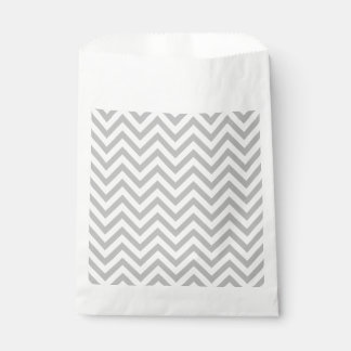Gray and White Zigzag Stripes Chevron Pattern Favour Bag